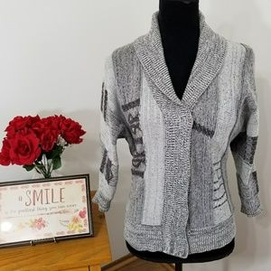 Ecote (Urban Outfitters) Gray Printed Knit Sweater